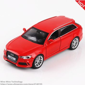 Double Horses 1:32 Scale Diecast Alloy Metal Luxury Car Model Audi RS6 Quattro Collection Model Pull Back Car Toys for children
