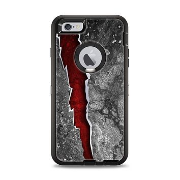 The Cracked Red Core Apple iPhone 6 Plus Otterbox Defender Case Skin Set