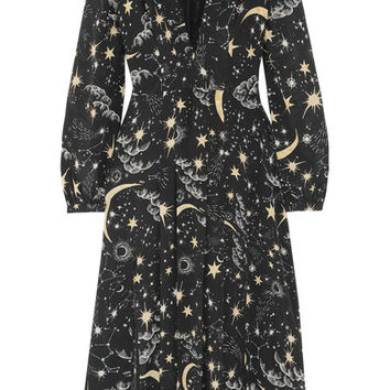 RIXO London - Camellia pleated printed silk crepe de chine midi dress