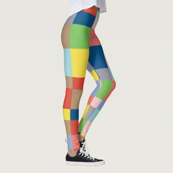 Cubist in Spring Colors Leggings