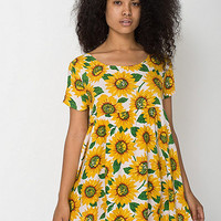 American Apparel - Printed Rayon Challis Babydoll Dress