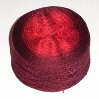 Mulberry silk yarn lace weight hand dyed ombre gradient 100g (3.5oz) - Red to cherry brown