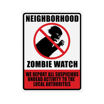 "Beistle Halloween Celebration Birthday Party Neighborhood Zombie Watch Sign 17"""" x 13"""" Pack of 12"