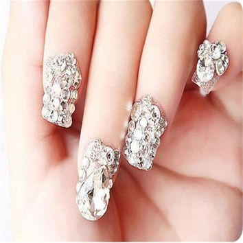 CREYHY3 All Sizes Nail Art Crystal Clear ss3 ss4 ss5 ss6 - ss40 Shiny Strass Flatback Non Hot Fix Rhinestones For Phone Case Decoration