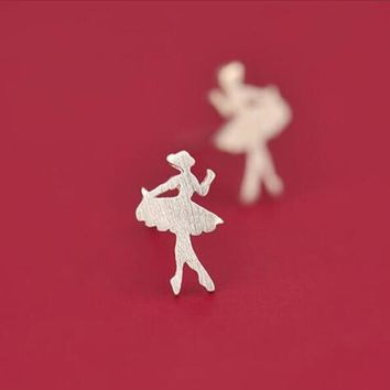 Jisensp Women Earings Cute Ballet Girl Earrings for Girls pendientes Fashion Jewelry Brincos SYED093