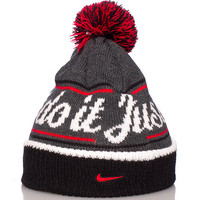 NIKE BEANIE WITH POM POM - Grey - NIKE CLOTHING