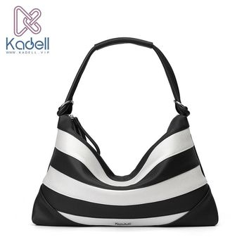Kadell 2018 New Luxury Elegant Beach Bag Handbags Women Famous Brands High Quality Zipper Shoulder Hobos Bolsos Travel pouch