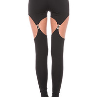 Widow Legging Cutout Garter Ponte Legging
