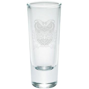 CREYCY8 Trippy Owl Etched Shot Glass Shooter