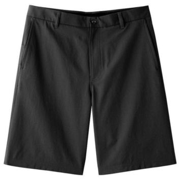 FILA Sport Men's Flat Front Golf Shorts with Score Card Pockets - Black Tie