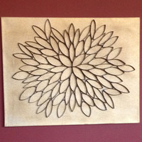 The UpFlower: Upcycled Flower Canvas Wall Art