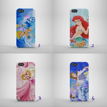 DISNEY PRINCESS/BELLE/ARIEL/AUROR HARD PHONE CASE COVER FOR IPHONE/SAMSUNG MODEL