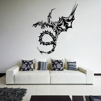 ik1614 Wall Decal Sticker Dragon mythical animal living bedroom teens