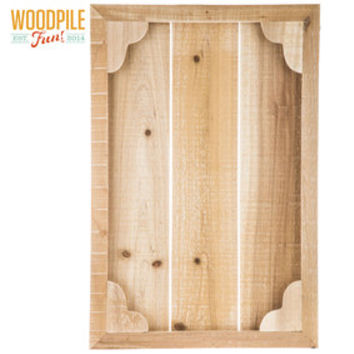 Framed Slatted Fir Wood Panel | Hobby Lobby | 1304344