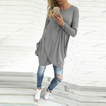 West Coast Long Sleeve Loose Long Maternity Top or Dress