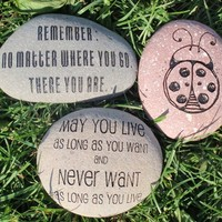 "Custom Engraved Personal Stone (3-5"")"