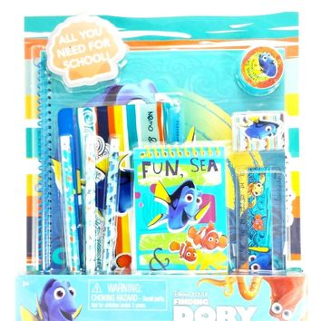 Disney Pixar Finding Dory & Nemo All You Need For School 11-Piece Stationery Set