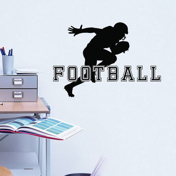 American Football Decal Sports Vinyl Wall Decals Football Player Gift Stickers Nursery Boys Room Teen Boy Room Decor Wall Art Mural 0082