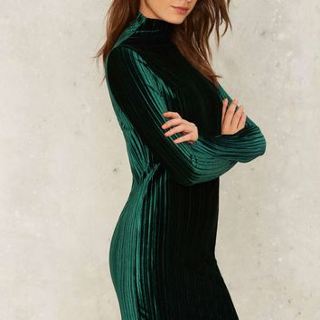 Age of Innocence Velvet Dress - Emerald