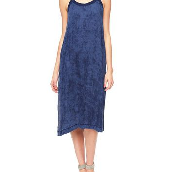 True Religion Indigo Relaxed Womens Tank Dress - Mineral Wash