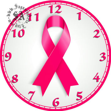 """Breast Cancer Tribute - DIY Digital Collage - 12.5"""" for 12"""" Clock Face Art, Arts & Crafts Projects"""