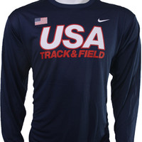 USATF - Online Store - Nike USATF Men's Classic Long Sleeve Dri-Fit Shirt