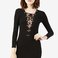 Morgan Lace Front Dress