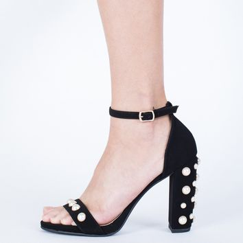 Sparkly Studded Pearl Heels