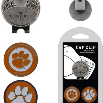 NCAA Clemson Tigers Hat Clip & 2 Magnetic Golf Ball Markers