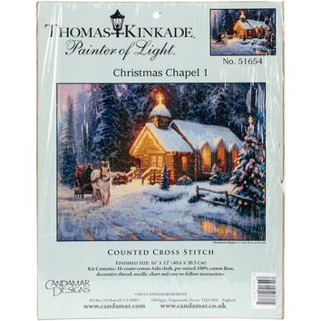 "Christmas Chapel I Counted Cross Stitch Kit-16""X12"" 16 Count"