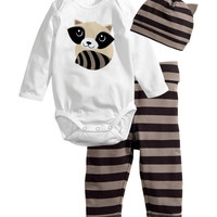 2014 New cotton baby boys girls 3pcs clothing set/Long-sleeved baby suit/Romper+pants+hat lovely baby clothes