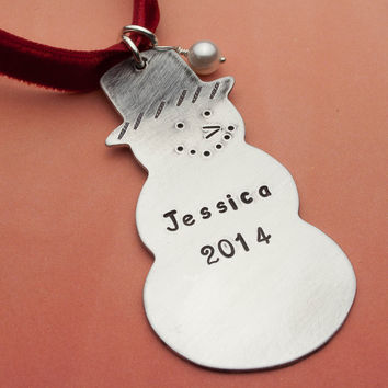 Snowman Personalized Christmas Ornament