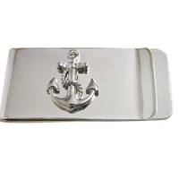 Detailed Nautical Anchor Money Clip