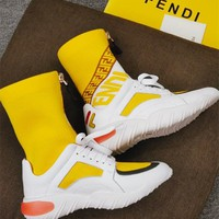 FENDI Fashion Stretch-knit Sneaker Boot