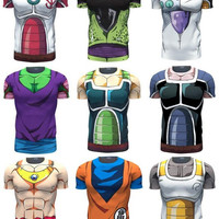 2016 New 3D tight Dragon Ball Z t shirts - FREE SHIPPING