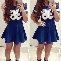 """36"" Slash Neck Skater Dress"