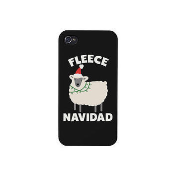 Fleece Navidad Phone Case - iphone 4 5 5C 6 6+, Galaxy S3 S4 S5, LG G3, HTC M8