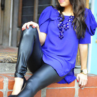 At Your Service Blouse/Tunic: Blue | Hope's