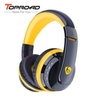 TOPROAD MX666 Wireless Headphones Bluetooth 4.0 Headset with Microphone over the Ear Handsfree Headband Support FM TF for Phone