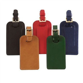 Luggage Tags-Traditional Leather