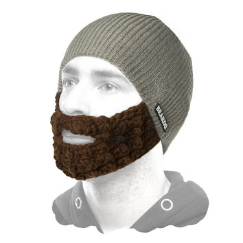 Beardo Grey (Attached Brown) - DAILY DEAL