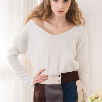 Yarn Sweater - White