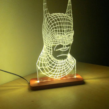 3D batman Table Lamp LED Light Night Light Kids room