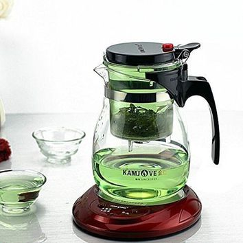 Kamjove Glass Gongfu Teaset Press AUTO-OPEN Art tea Cup Teapot with Infuser TP-757 700ml elegant style tea sets infuser de cha