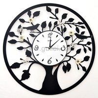 Creative large Tree Decorative Wall Clock Gift