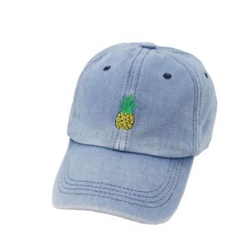 Denim Blue Pineapple Cap