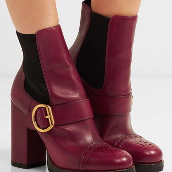 Prada - Leather platform boots