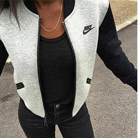 """NIKE"" Women Long Sleeves Round Neck Cardigan Jacket Coat"