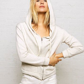 Don't Ask Why French Terry Zip Up Hoodie, Natural White
