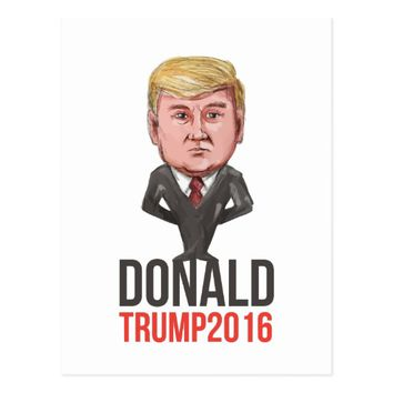Trump 2016 President Republican Caricature Postcard